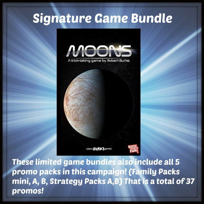 One signed copy of Moons from Quick Simple Fun Games by designer Robert Burke!