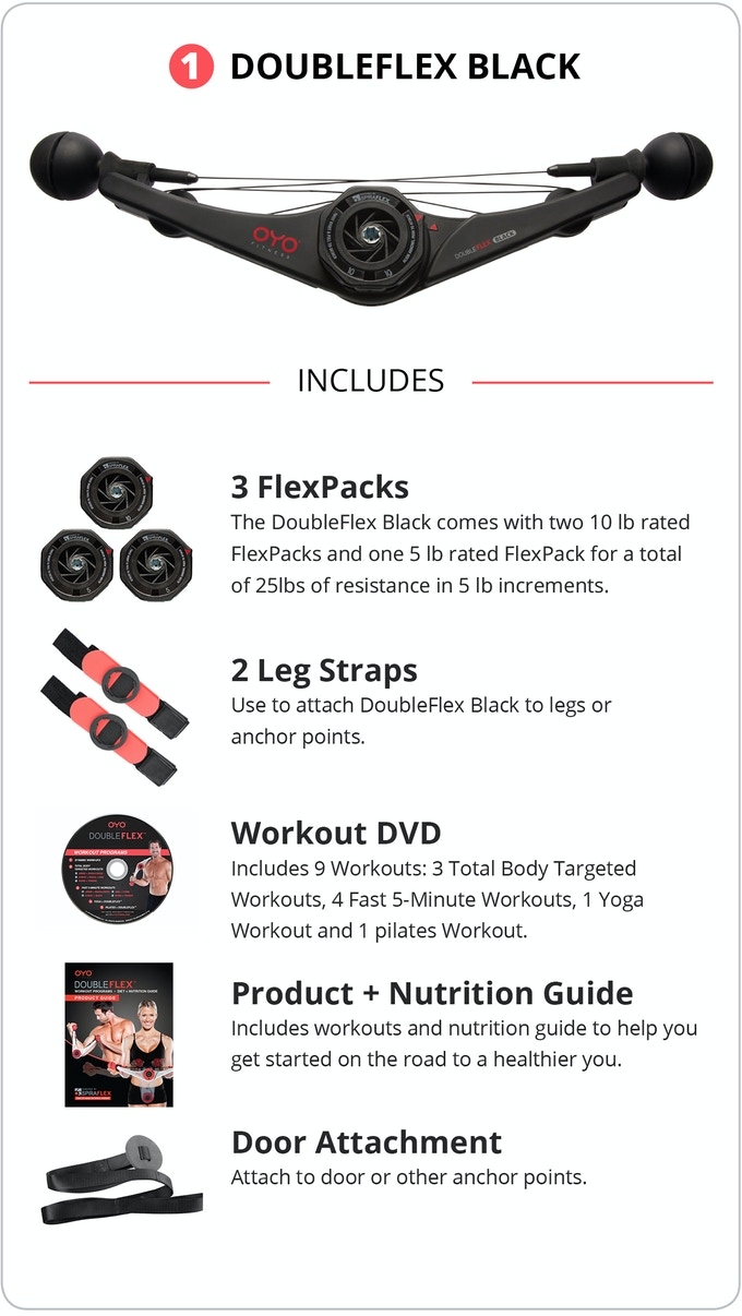 2aa647c0f539 The DoubleFlex Black PRO has built in sensors to track reps
