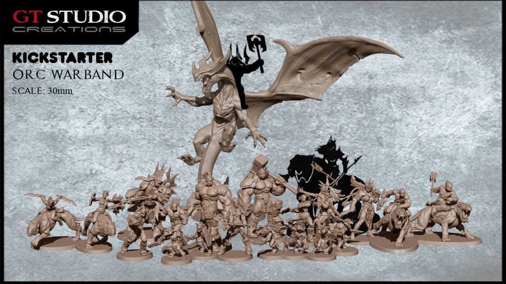 GT Studio Creations needs your help to create the most amazing orc fantasy miniatures you have ever seen!!!