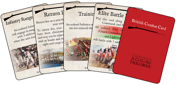 A few examples of the British Combat Cards