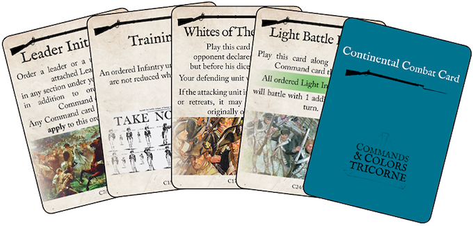 A few examples of the Continental Combat Cards