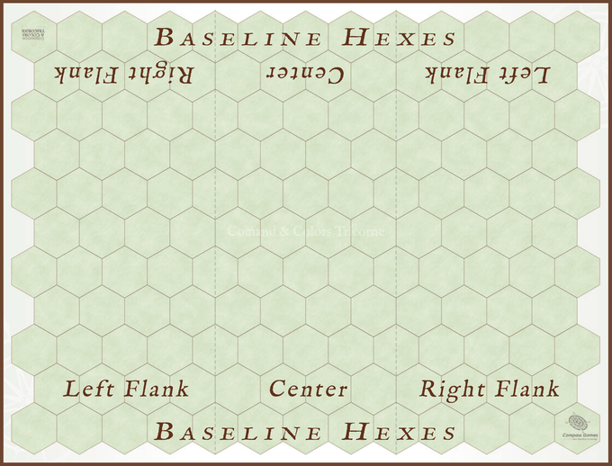 The base map seen above without Terrain Tiles.  This is a fully-mounted game board