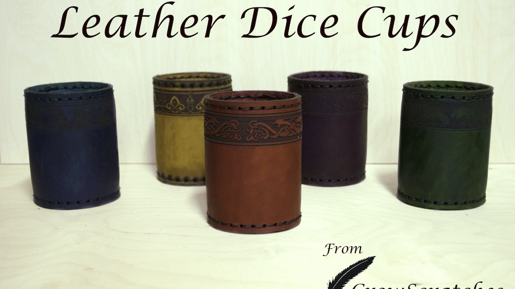 Leather Dice Cups from CrowScratches project video thumbnail