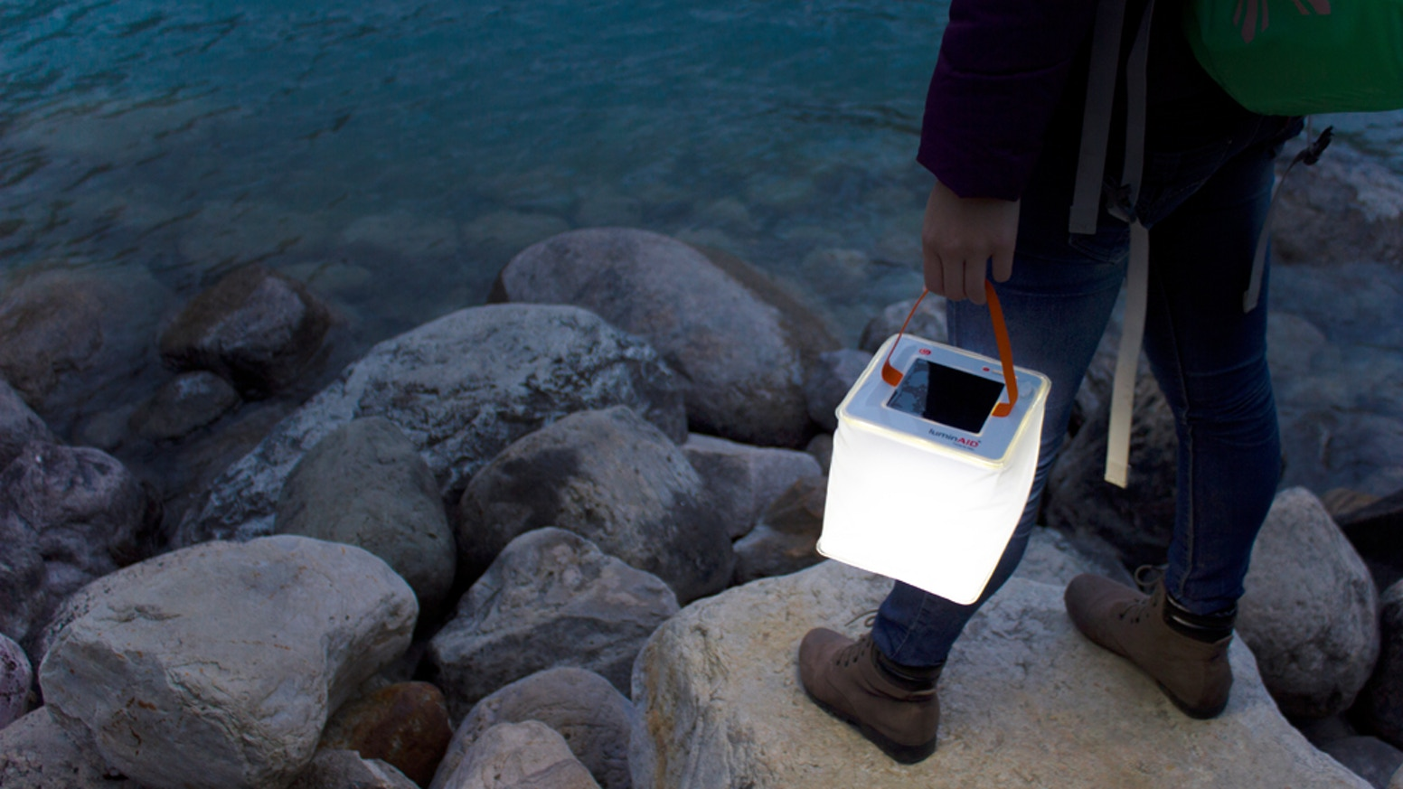 """Charge your gear anywhere!  A 2-in-1 solar lantern and phone charger that packs down to 1"""" thick. Portable power and light on the go! Missed the campaign? Order yours today!"""