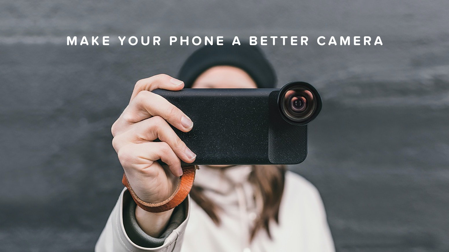 The World's First Battery Case, Photo Case, and Cinema Wide Lens for Mobile Photography.