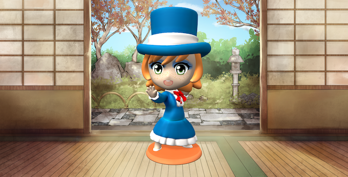 Export screenshots like this, with your custom chibi and choice of background, for free!