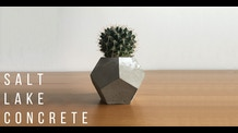 Geometric Planters from Salt Lake Concrete