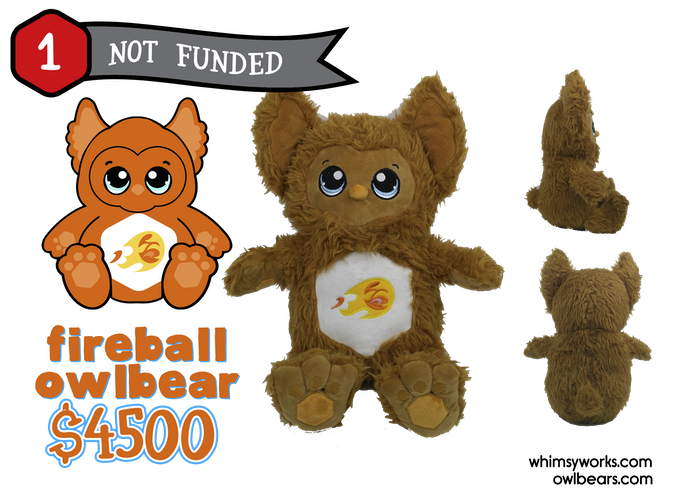Fireball Plush Concept & Prototype (Fireball will have orange fur when finalized)