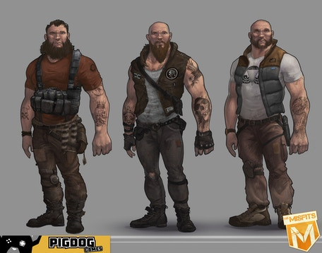 Heavy Character Skin Concepts