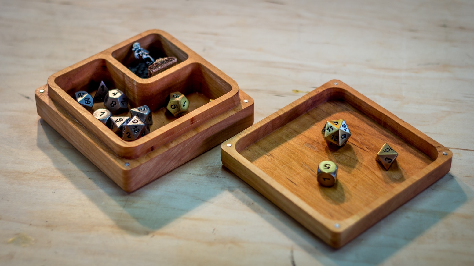 Miniature Storage, Dice Storage, and Dice Rolling Tray. Contain your characters.