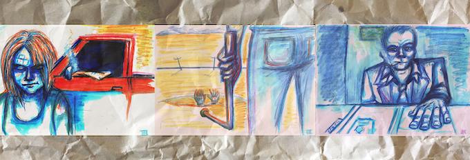 Conceptual sketches by Anastasia Kahn.