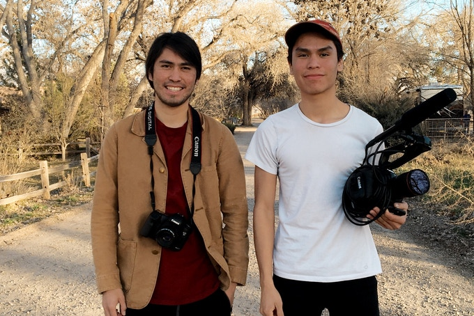Kalen (Left) and Forrest (Right) ready to get this film done!