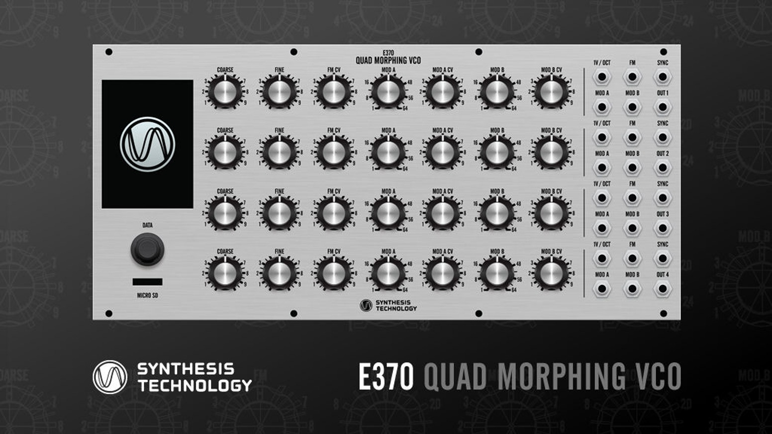 SynthTech E370 Quad Morphing VCO - Euro modular synth by
