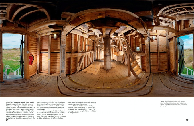 """360º spherical image of the """"Meal"""" floor of the Windmill"""