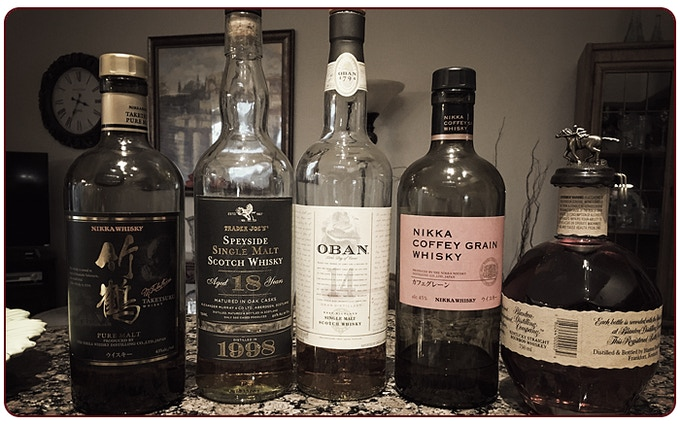 I couldn't decide on a whiskey...