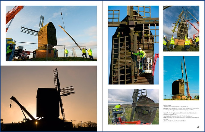 Dismantling the Windmill for restoration
