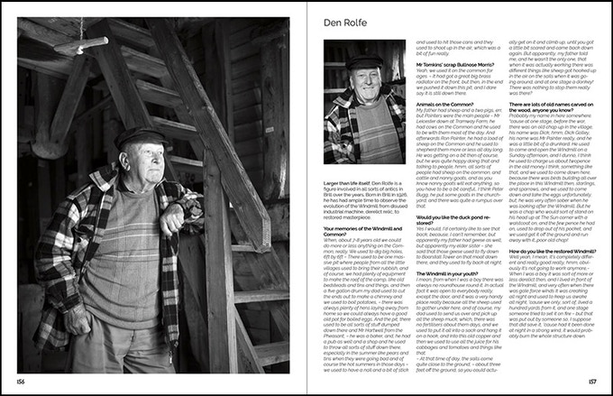 Interview with villager, here photographed inside the Windmill