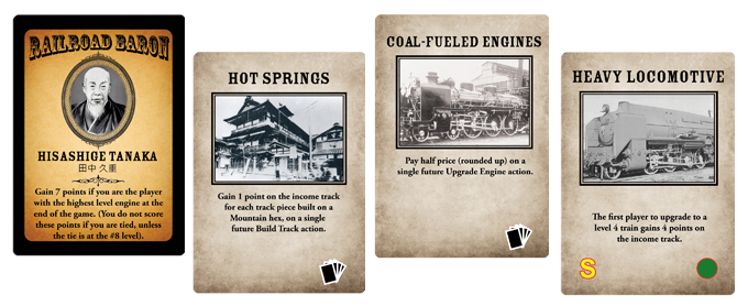 Railways of Nippon contains many new Baron Cards and Operations cards