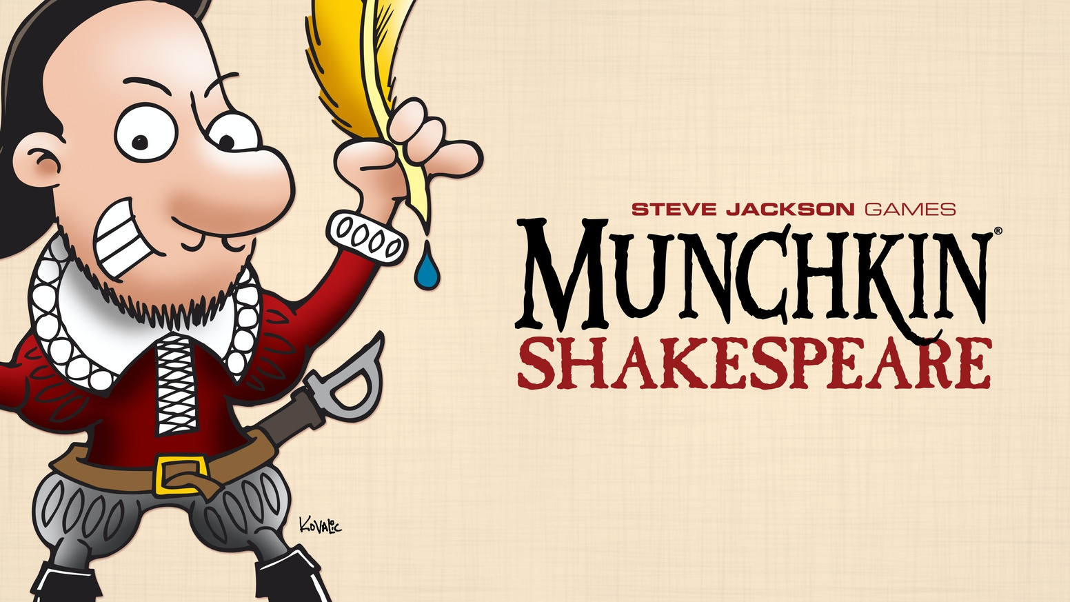 A Shakespeare-themed version of Munchkin – the hit card game of monster slaying, punnery, and backstabbing. Et tu, Brute?