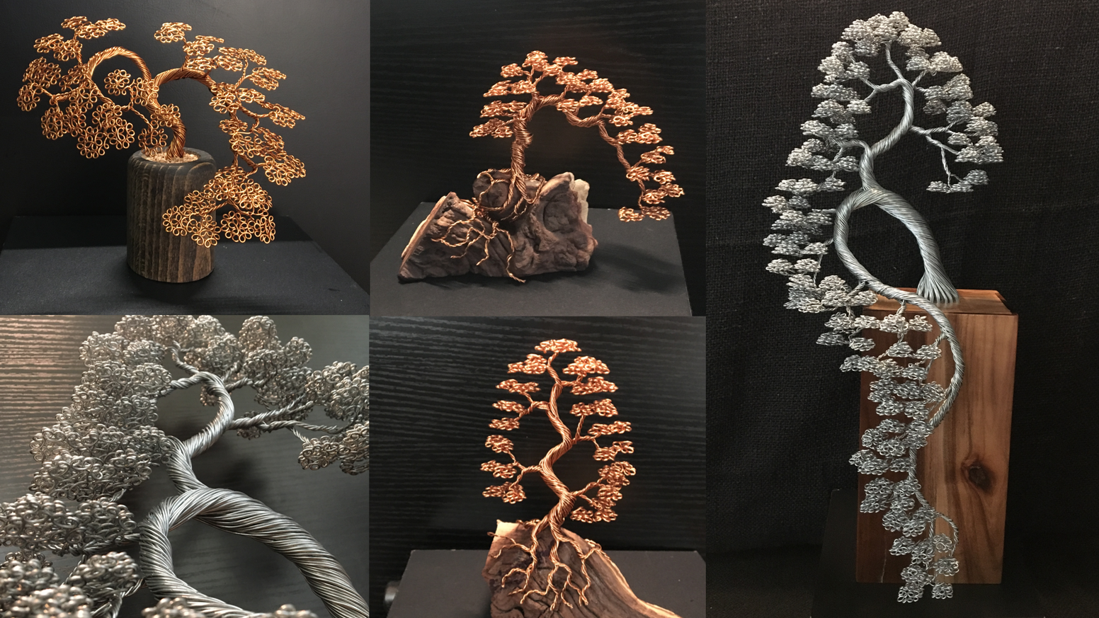 Hand made sculptures using strands of wire