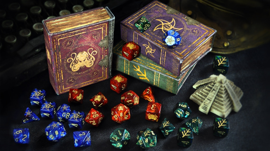Elder Dice - Cthulhu Mythos themed dice for tabletop gamers miniatura de video del proyecto