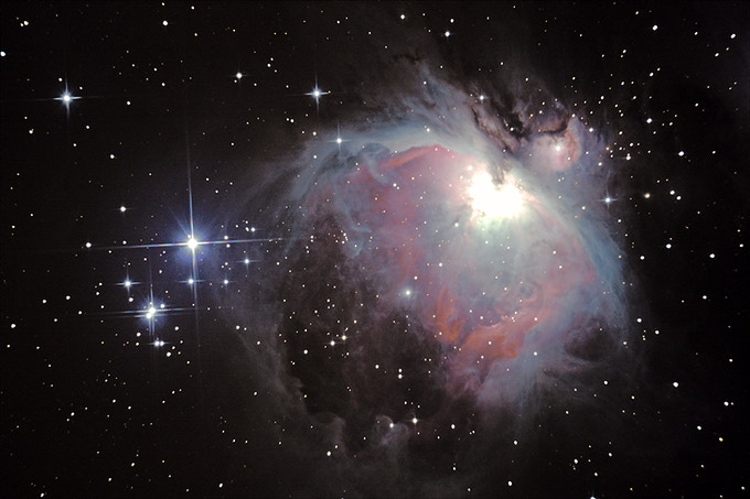 "The Orion Nebula - Imaged through our much smaller 8"" Newtonian telescope"