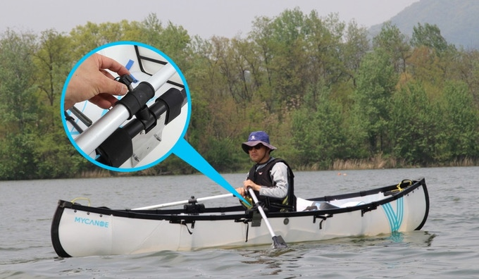 Easily attach and remove paddles.