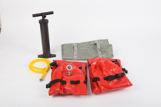 Comes with a set of stabilizers, high-capacity air pump, and a carrying bag.