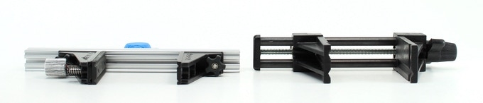 PCBGRIP Vise height compared to PanaVise® Model 201 Vise Head height.  PCBGRIP Vise face is only 15mm high.