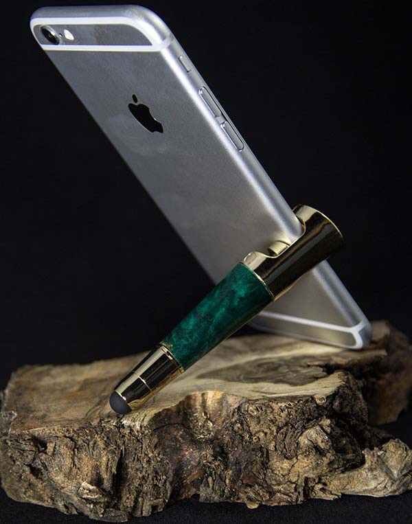 Smart Phone Stand/Stylus in Use