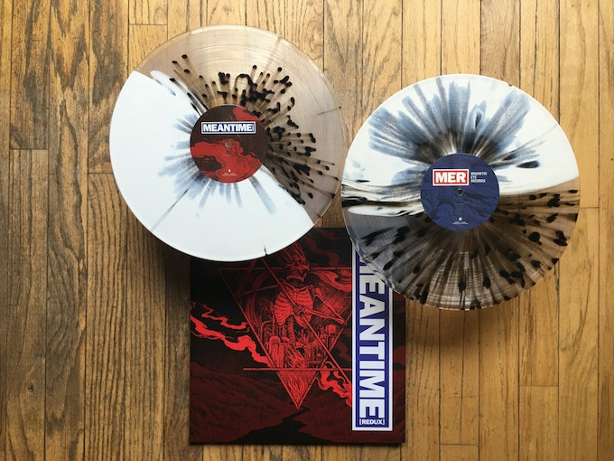 Meantime [Redux] 1 of 4 vinyl variants / Cover art and layout by Jesse Schaller
