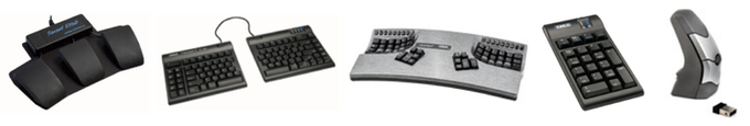 Kinesis ergonomic keyboards, mice, foot pedals