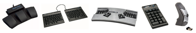 Kinesis ergonomic keyboards, mice, foot pedals