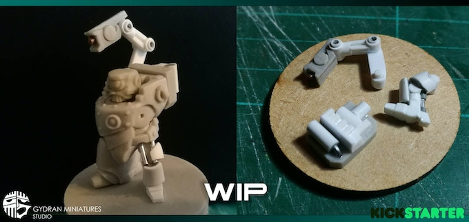 A WIP image of the Mechanical Upgrade set components. This image will be updated as we progress with the sculpt.