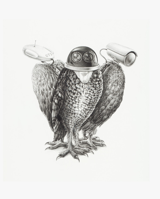 TRIO, pencil on paper, 60x52.5 cm