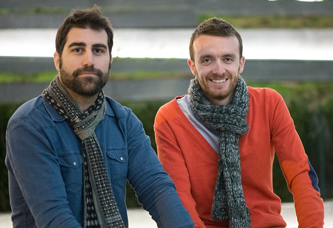 Co-Founder, Clément (left) and Co-Founder, Bruno (right)