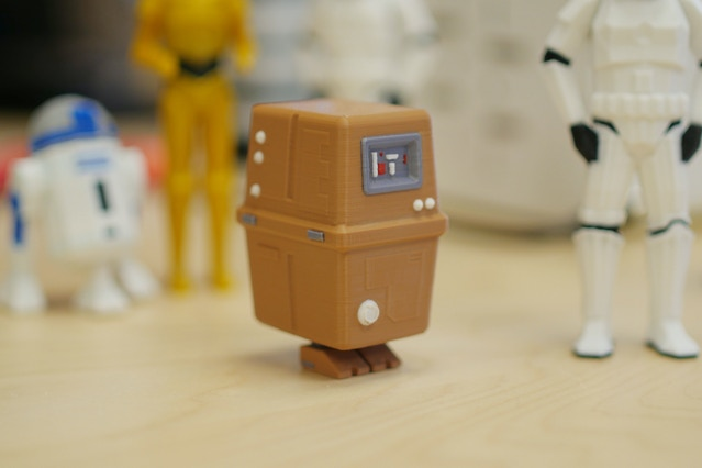 "Star Wars GNK (""gonk"") power droid (http://www.thingiverse.com/thing:1985137)."