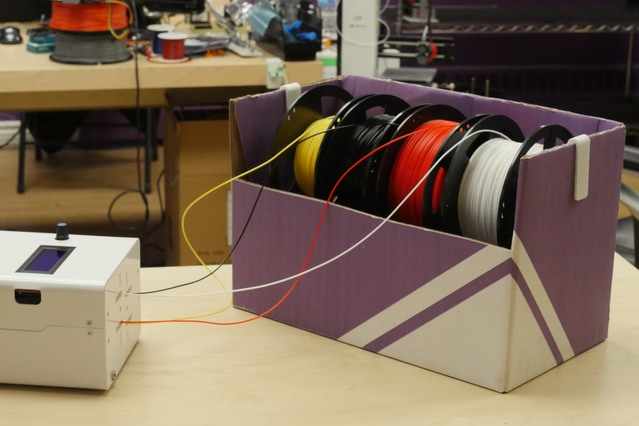 Palette Spool Pal (http://www.thingiverse.com/thing:1986942).