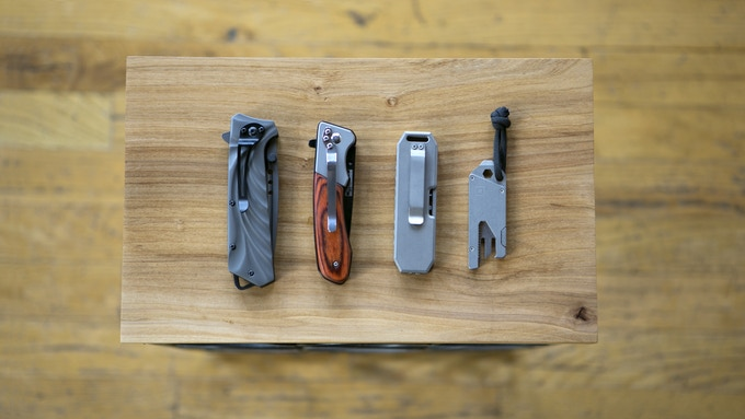 Pocket knife size comparisons