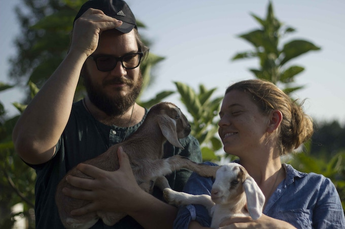 Maggie & Jeremy together in Nepal... and goats