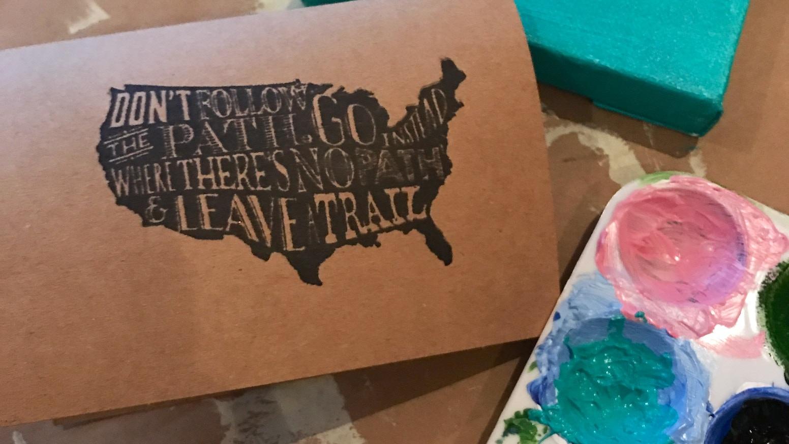 Stamp Greeting Cards Handmade 5 By 7 By Sarah Kickstarter
