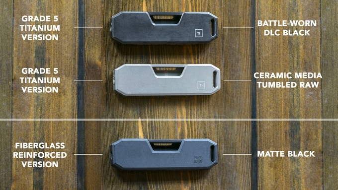 2 Titanium Options & 1 Fiberglass Reinforced Option