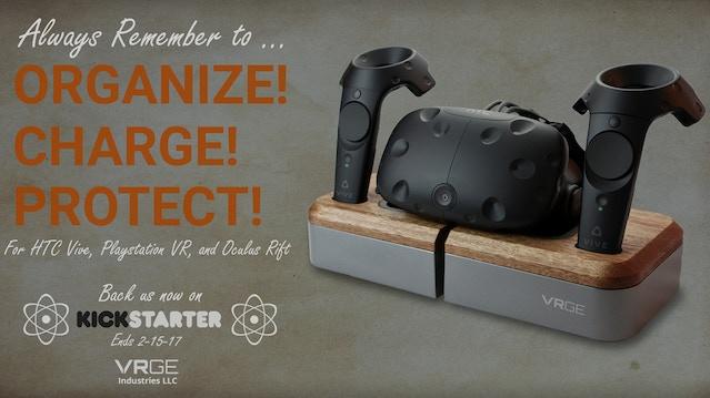 b0b781068361 VRGE - Virtual Reality Hardware Charging Dock by Team VRGE — Kickstarter