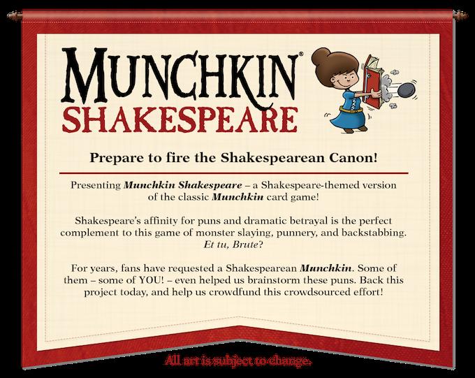 Munchkin Shakespeare By Steve Jackson Games Kickstarter