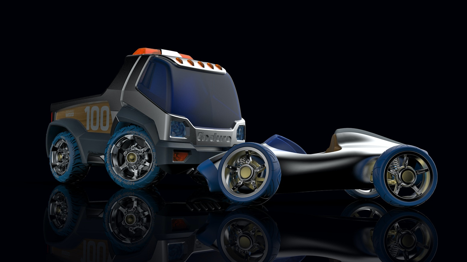 High Quality toy vehicles with amazing driving mechanics. Crafted from 100% sustainable materials and built to last for lifetimes.