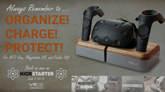 VRGE - Virtual Reality Hardware Charging Dock by Team VRGE