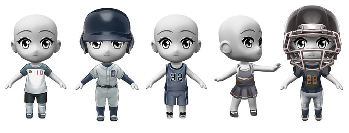 At $50,000 We'll add a range of sports-themed parts and outfits to the character creator!