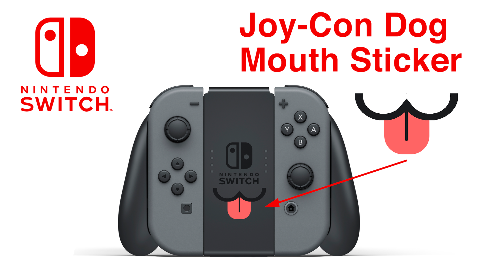 Nintendo Switch Dog Tongue Stickers for Joy-Con by Nintendeal ...