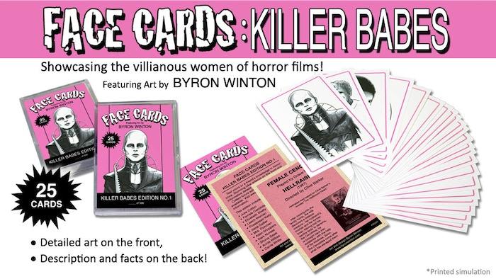 face cards killer babes by byron winton kickstarter. Black Bedroom Furniture Sets. Home Design Ideas