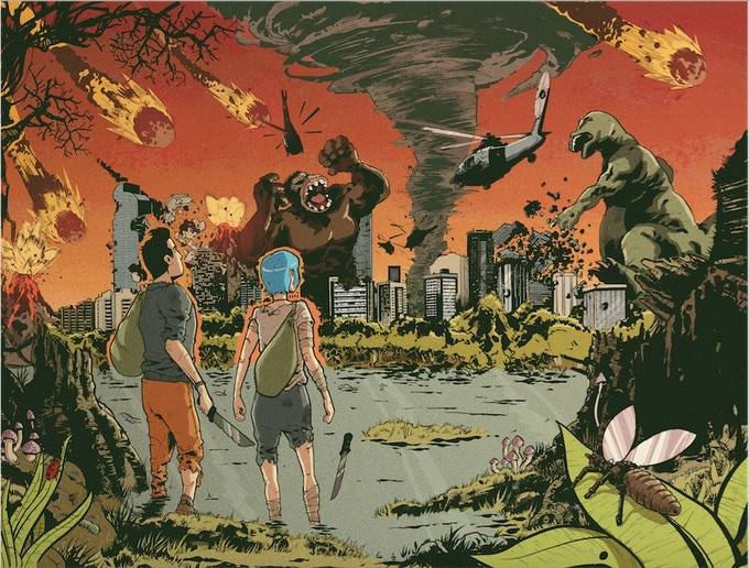 Two-page spread from Issue 2